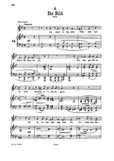 No.9 Ihr Bild (Her Portrait): For low voice and piano by Franz Schubert