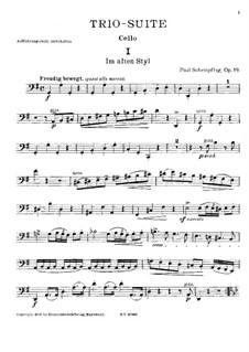 Trio-Suite for Violin, Cello and Piano, Op.19: Cello part by Paul Scheinpflug