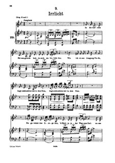 No.9 Irrlicht (Will o' the Wisp): For low voice and piano by Franz Schubert
