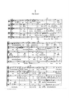Six German Motets for Five Voices: Six German Motets for Five Voices by Johann Hermann Schein