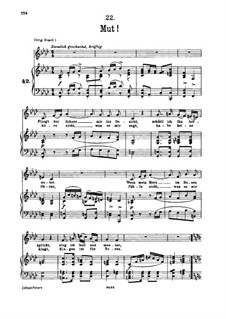 No.22 Mut (Courage): For low voice and piano by Franz Schubert