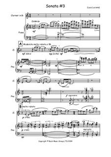 Sonata No.3: Score by Luca Luciano
