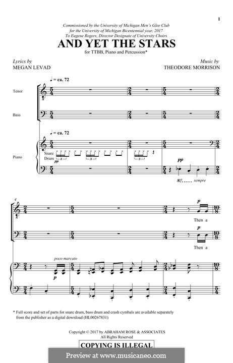 And Yet the Stars: For male choir by Theodore Morrison