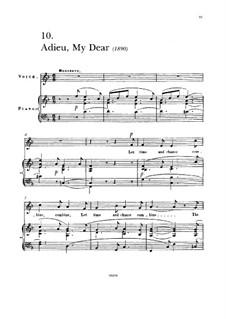 Adieu My Dear: Adieu My Dear by Francesco Paolo Tosti