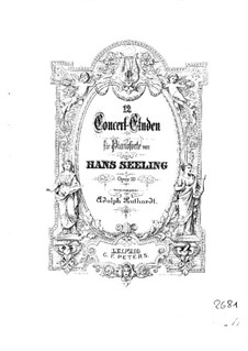 Twelve Concert Etudes, Op.10: For piano by Hans Seeling