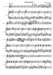 Ноктюрн для скрипки: Ноктюрн для скрипки by Olga Yultyeva