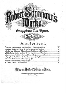 Selected Works: Selected Works by Robert Schumann