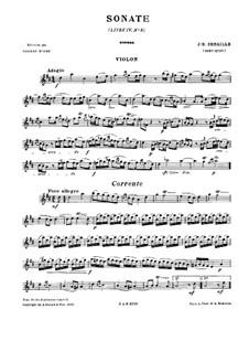 Sonata for Violin and Harpsichord No.9 in D Major: Solo part by Jean Baptiste Senaillé