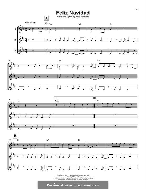 Feliz Navidad: For ukulele by José Feliciano