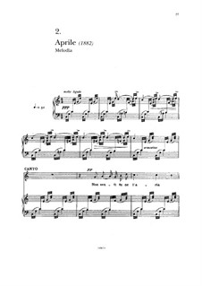 Aprile: For voice and piano by Francesco Paolo Tosti