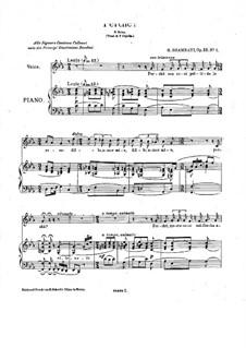 Lyric Melodies, Op.32: Lyric Melodies by Giovanni Sgambati