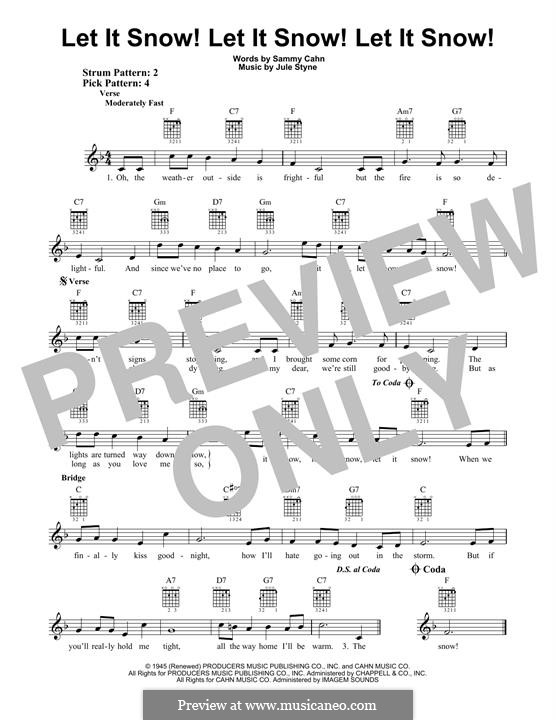 Let It Snow! Let It Snow! Let It Snow!: For guitar with tab by Jule Styne