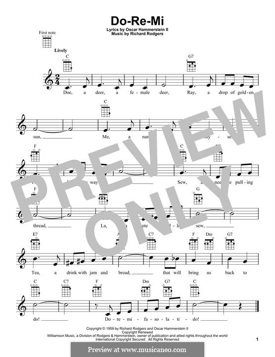 Do Re Mi From The Sound Of Music By R Rodgers Sheet Music On