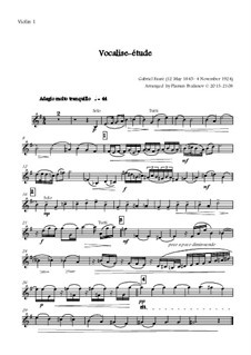Vocalise-étude: For oboe and string orchestra - all parts by Gabriel Fauré