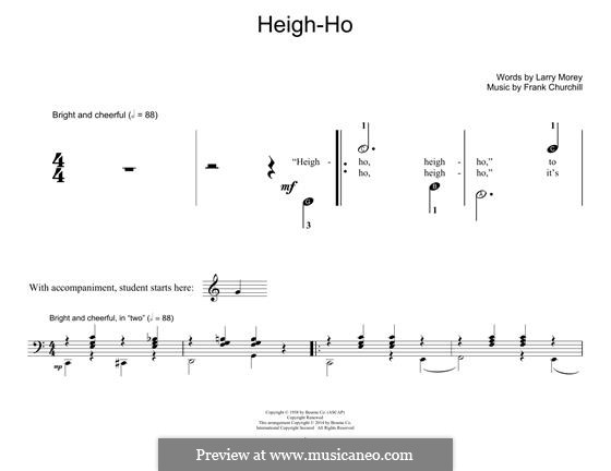 Heigh-Ho: For piano by Frank Churchill