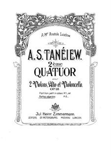 String Quartet No.2 in C Major, Op.28: Violin I part by Alexander Taneyev