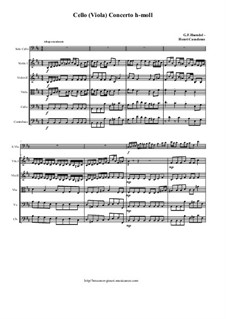 Cello (Viola) Concerto h-moll: Score and all parts by Georg Friedrich Händel