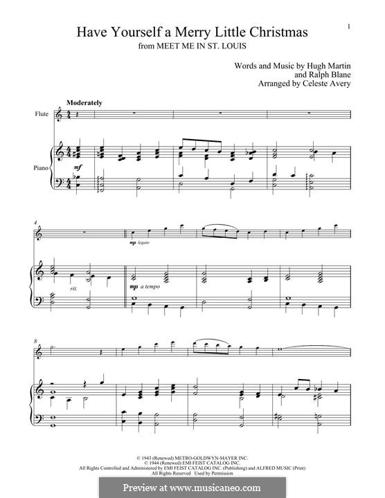 Have Yourself a Merry Little Christmas: For flute and piano by Hugh Martin, Ralph Blane