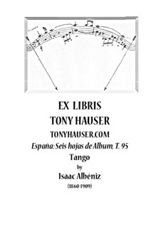 No.2 Tango: For guitar, T.95 by Isaac Albéniz