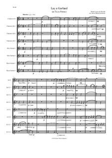 Lay a garland (or Tu es Petrus): For clarinet choir by Robert Lucas Pearsall