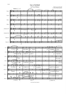 Lay a garland (or Tu es Petrus): For wind octet (2 flutes, 2 oboes, 2 clarinets, 2 bassoons) by Robert Lucas Pearsall