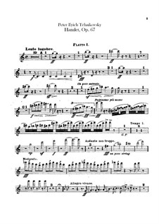 Hamlet. Overture-Fantasia, TH 53 Op.67: Flutes parts by Pyotr Tchaikovsky
