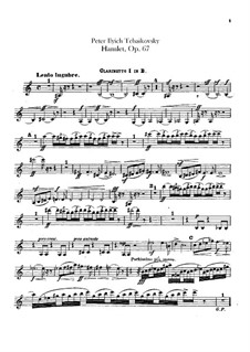 Hamlet. Overture-Fantasia, TH 53 Op.67: Clarinets parts by Pyotr Tchaikovsky