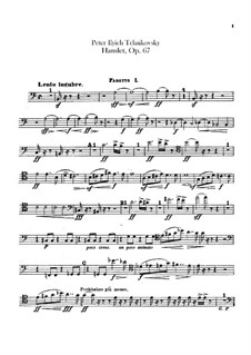 Hamlet. Overture-Fantasia, TH 53 Op.67: Bassoons parts by Pyotr Tchaikovsky