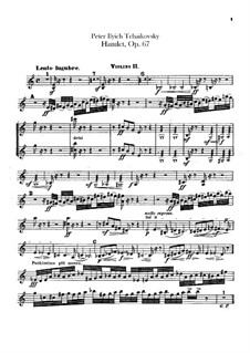Hamlet. Overture-Fantasia, TH 53 Op.67: Violins II parts by Pyotr Tchaikovsky