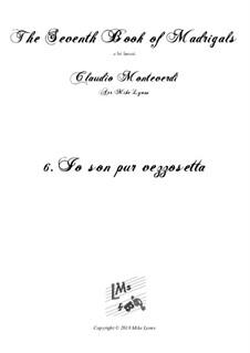 Book 7 (Concerto), SV 117–145: No.06 Io son pur vezzosetta pastorella a6 by Claudio Monteverdi