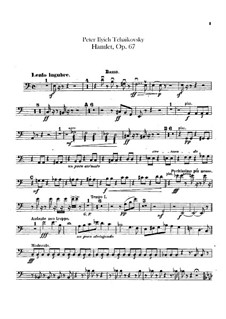 Hamlet. Overture-Fantasia, TH 53 Op.67: Double basses part by Pyotr Tchaikovsky