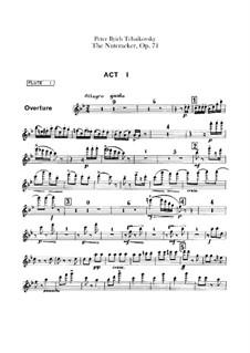 Complete Ballet: Flutes parts by Pyotr Tchaikovsky