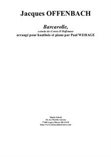 Barcarole: Version for oboe and piano by Jacques Offenbach