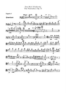 Complete Ballet: Bassoons parts by Pyotr Tchaikovsky