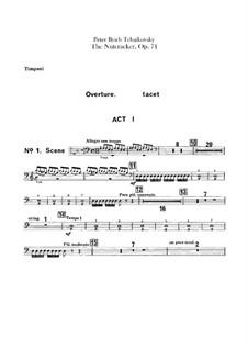 Complete Ballet: Timpani part by Pyotr Tchaikovsky