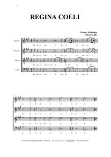 Regina Coeli Laetare - for SATB Choir: Regina Coeli Laetare - for SATB Choir by Gregor Aichinger