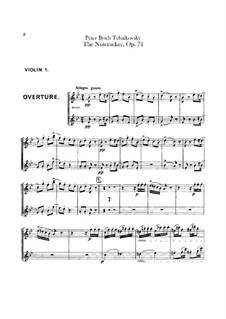 Complete Ballet: Violins I part by Pyotr Tchaikovsky