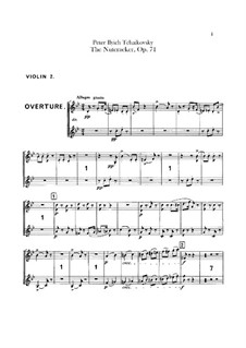 Complete Ballet: Violins II part by Pyotr Tchaikovsky