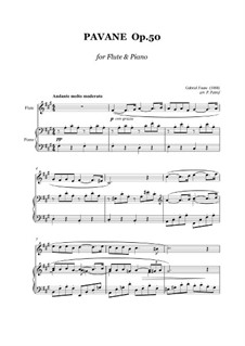 Pavane, Op.50: For flute and piano by Gabriel Fauré