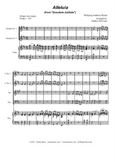 Exsultate, jubilate, K.165: Alleluia, for brass quartet by Wolfgang Amadeus Mozart