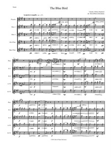 The Blue Bird: For piccolo and flute quartet by Charles Villiers Stanford