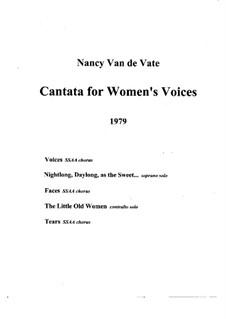 Voices of Women: Score (Version A) by Nancy Van de Vate