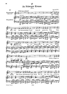 An Schwager Kronos (To Coachman Chronos), D.369 Op.19 No.1: For low voice and piano by Franz Schubert