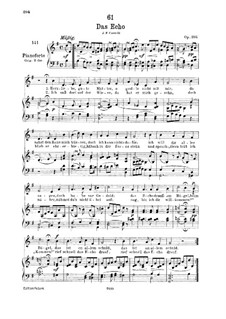 Das Echo (The Echo), D.868 Op.130: For low voice and piano by Franz Schubert