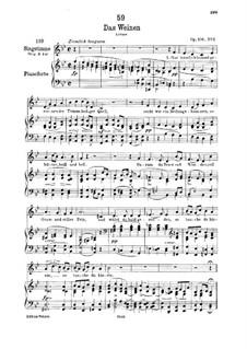 Das Weinen (Weeping), D.926 Op.106 No.2: For low voice and piano by Franz Schubert