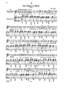 Der König in Thule (The King in Thule), D.367 Op.5 No.5: For low voice and piano by Franz Schubert