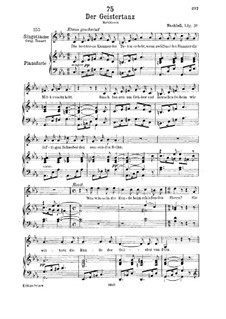 Der Geistertanz (Ghost Dance), D.116: For low voice and piano by Franz Schubert