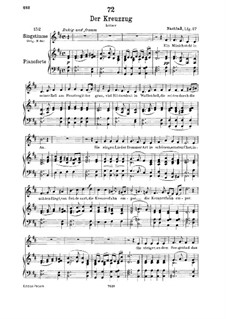 Der Kreuzzug (The Crusade), D.932: For low voice and piano by Franz Schubert