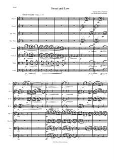 Sweet and Low (Stanford's setting): For flute quartet and string quartet by Charles Villiers Stanford