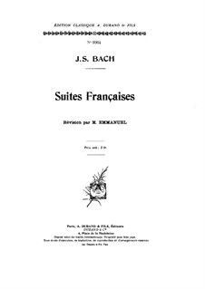 Complete set, BWV 812-817: For piano by Johann Sebastian Bach
